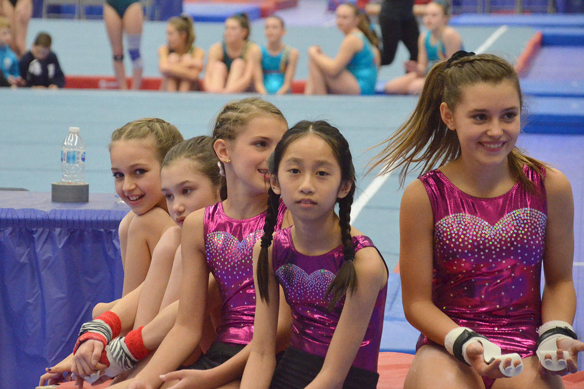 The Christy Fraser Memorial gymnastics tournament started Friday at the Langley Events Centre fieldhouse with interclub competitions. (Heather Colpitts/Black Press Media)