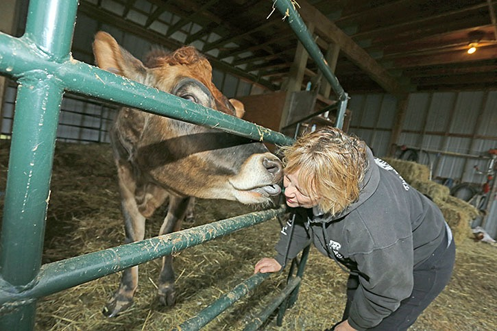 Diane Marsh of the Happy Herd Farm Sanctuary in Langley