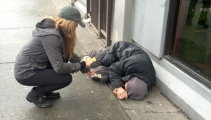 Cierra Foster left a homeless man something 'special' to wake up to
