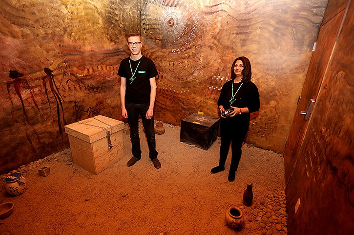 Riley Bovbjerg and Arvina Batta say Langley's E-Exit escape rooms are attracting people from across the Lower Mainland