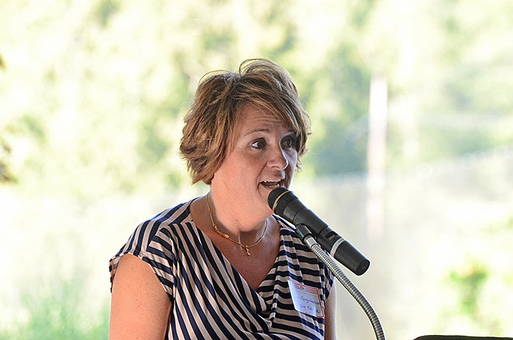 Langley Advance publisher Lisa Farquharson spoke at the newspaper's 18th annual Best of the Best awards Aug. 27