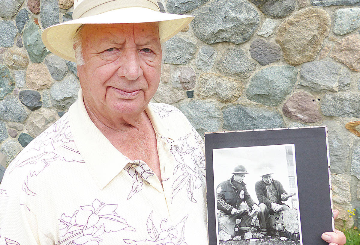 Eddie Sirney was still in school when his father, Joseph, constructed the stone wall. It was made when the original Langley Cottage Hospital was built in 1947.
