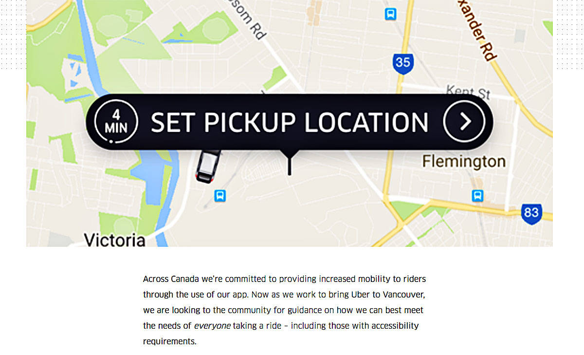 Uber on the streets mapping the Lower Mainland