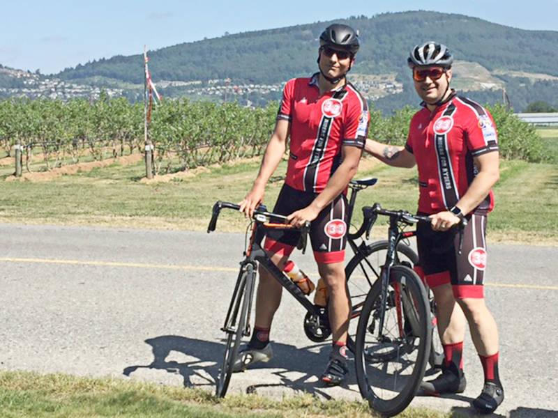 Chris Vecchies (left) and Darren McHattie on a ride.