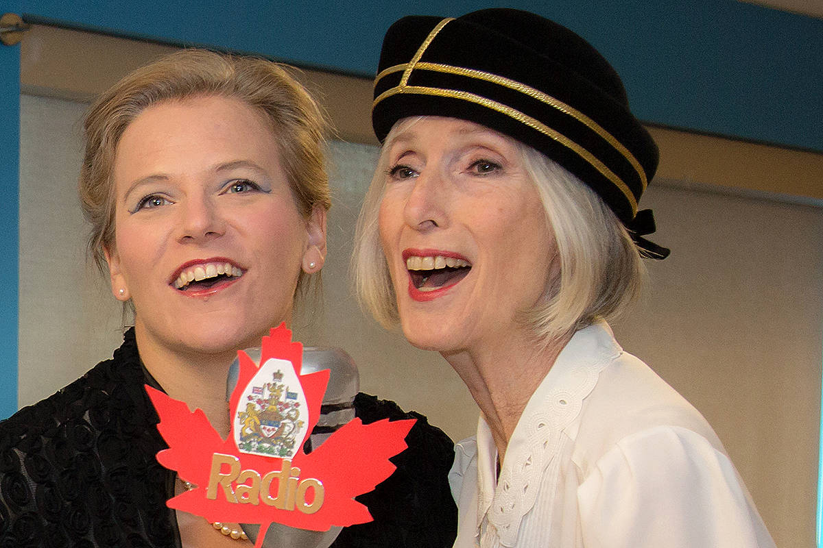 Diane Gendron (right) performed in last year's presentation of a 1940s radio play for the Township of Langley. (Special to the Langley Advance)