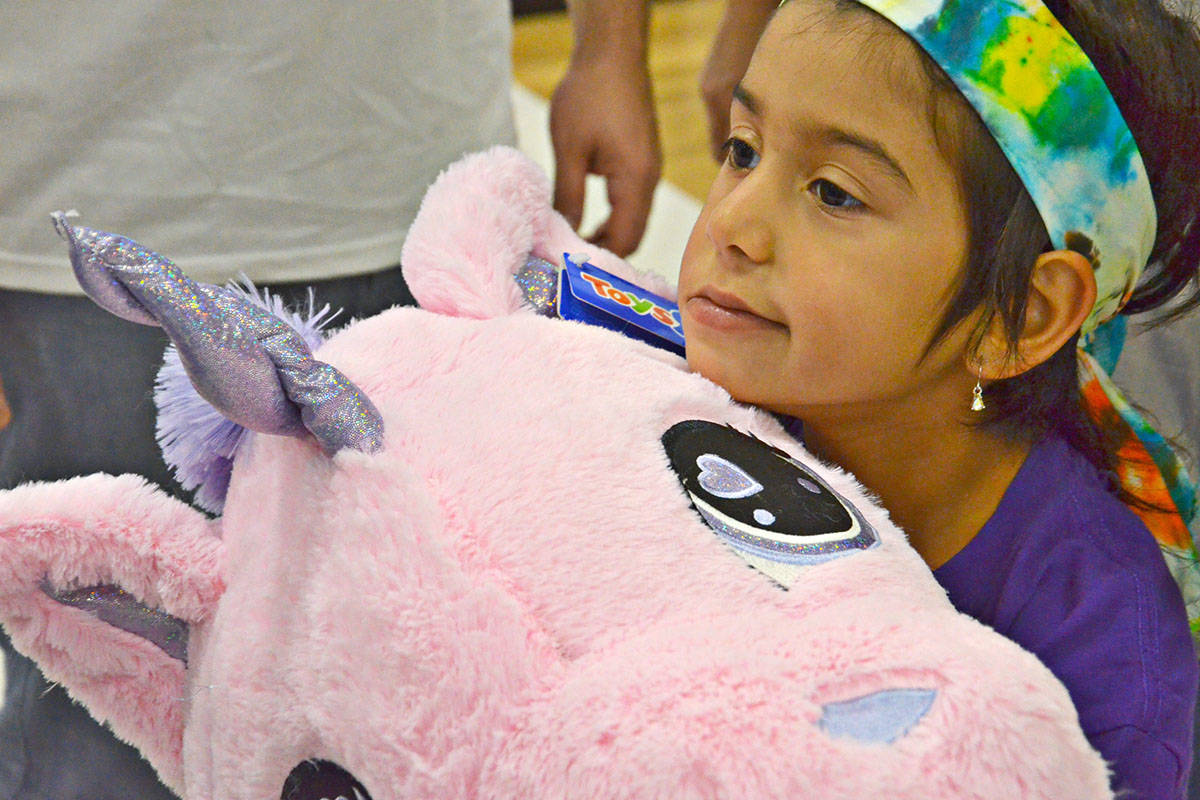 Talia was chosen to enjoy a three-minute shopping spree. (Heather Colpitts/Langley Advance)