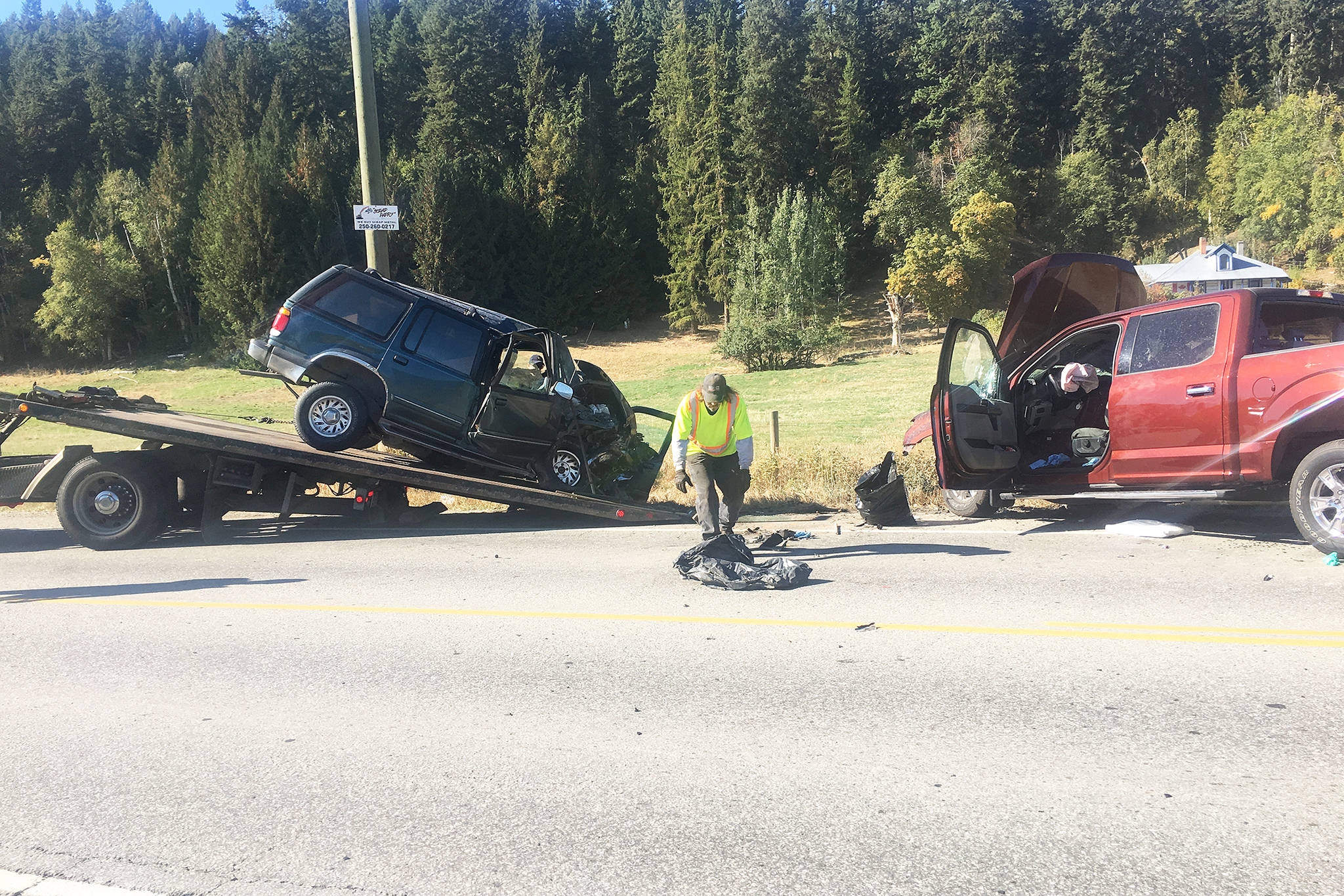 Charges have been laid against one of the two drivers involved in a head-on accident on Highway 97A north of Enderby Sept. 28. (Morning Star file photo)