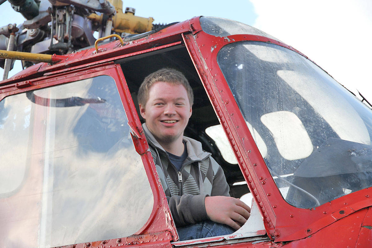 Jeremy Lohnes attends Aldergrove Secondary and was one of the students in the first Aviation Explorations 12 course in the Langley School District.