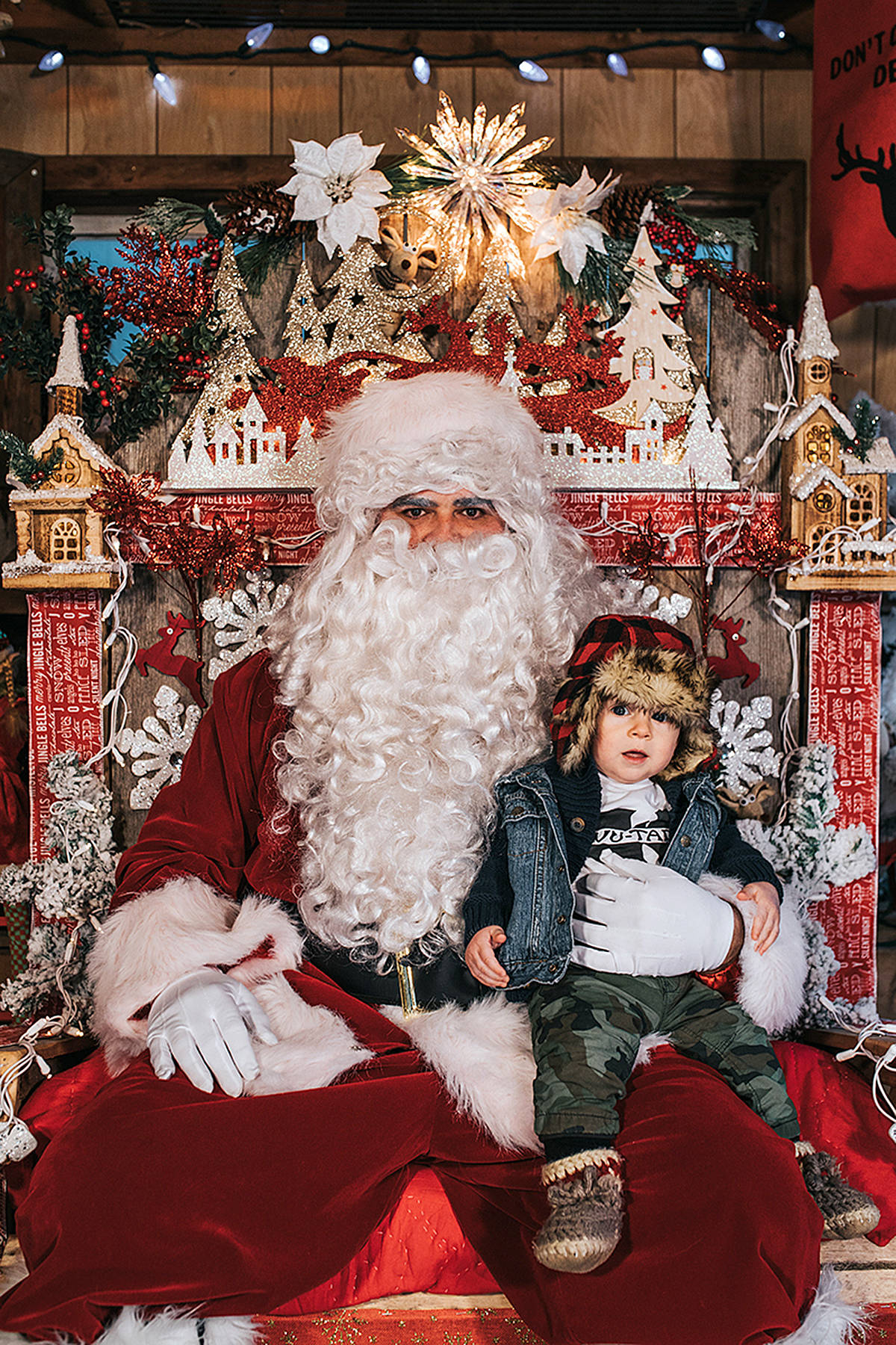 A rustic shed was set up for Santa at Potters Nursery, where people could bring their family or pets and have pictures taken with the jolly ol' elf. All proceeds to the Canuck Place children's hospice in Abbotsford. (Angela Ruscheinski/Blush Photography)