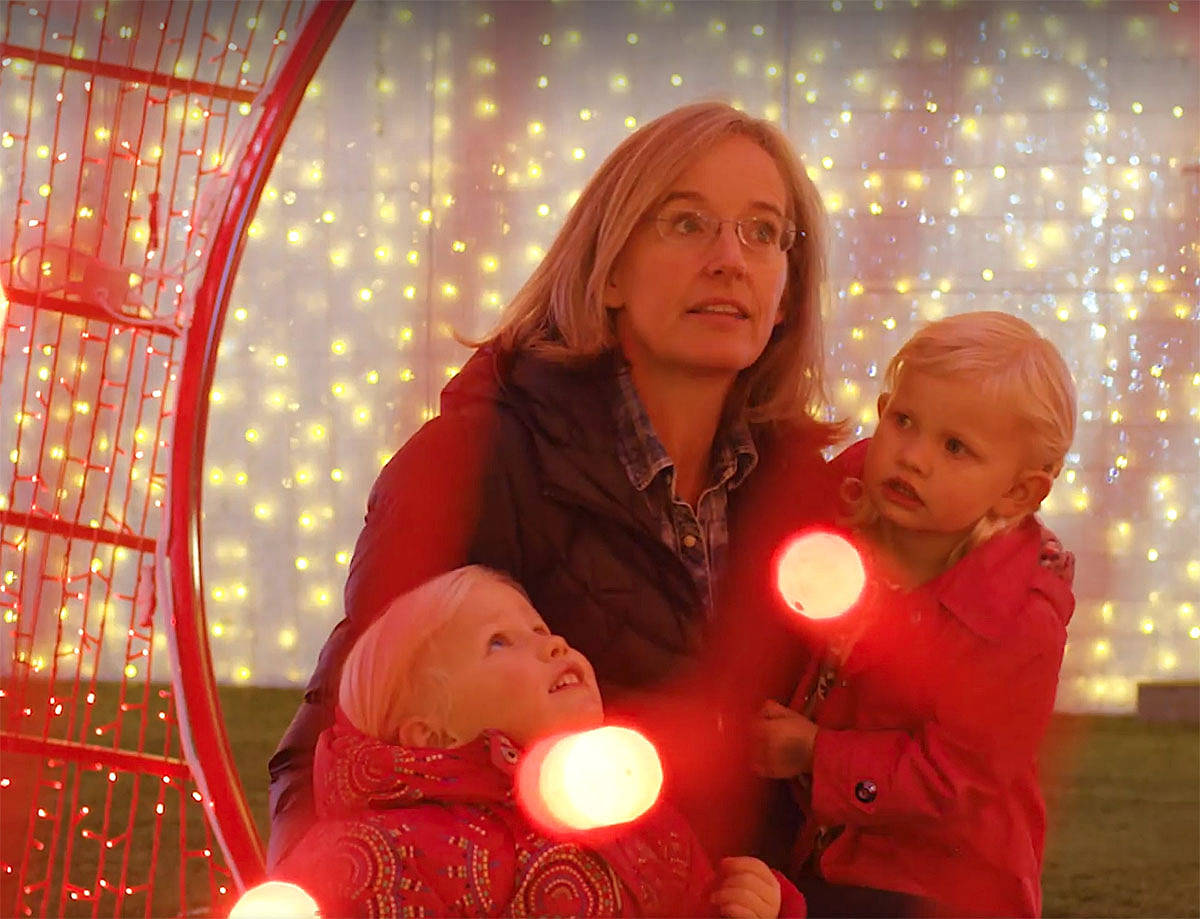 Attending the new Glow Christmas Light Garden and Market in Milner this holiday season could fast become a family tradition, and an easy way to give to charities. (Special to the Langley Advance)