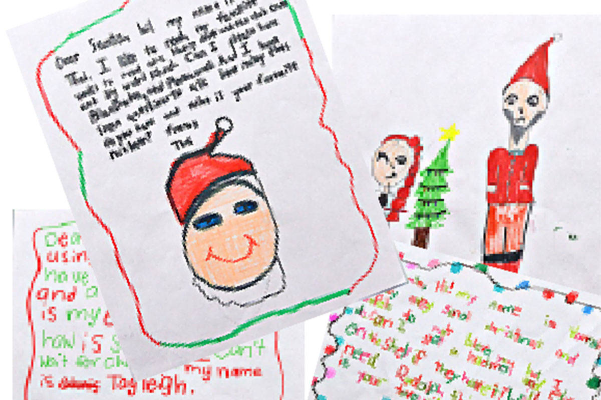 Langley kids letters to Santa wanted