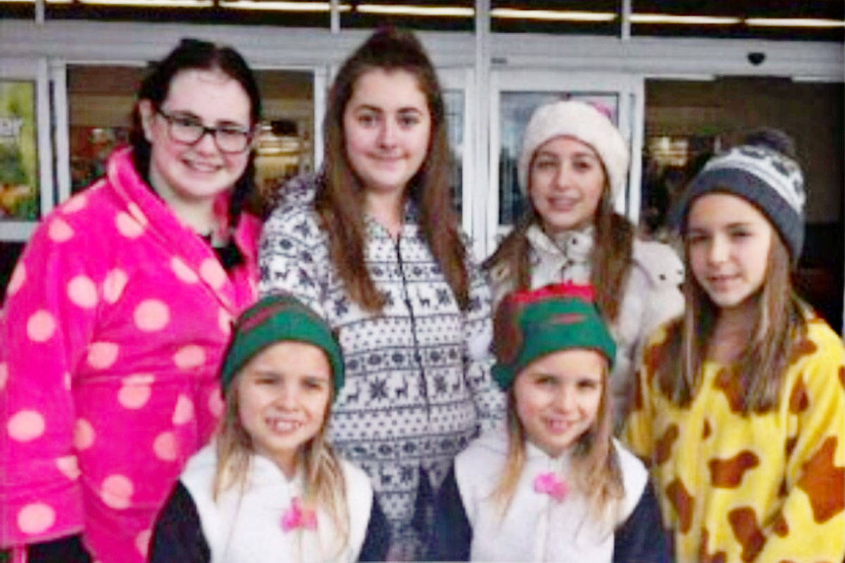 Friends and family help collect donations at the annual Jammie Drive. (Jammie Drive photo)