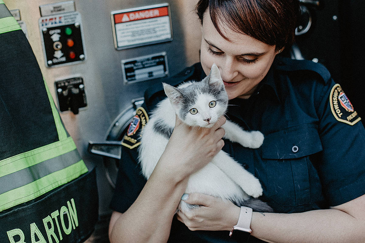 Last year's firefighter calendar raised almost $10,000 for the Langley Animal Protection Society. This year's calendars went on sale at Langley Shoppers Drug Marts this week. (Trav & Ash Photography)