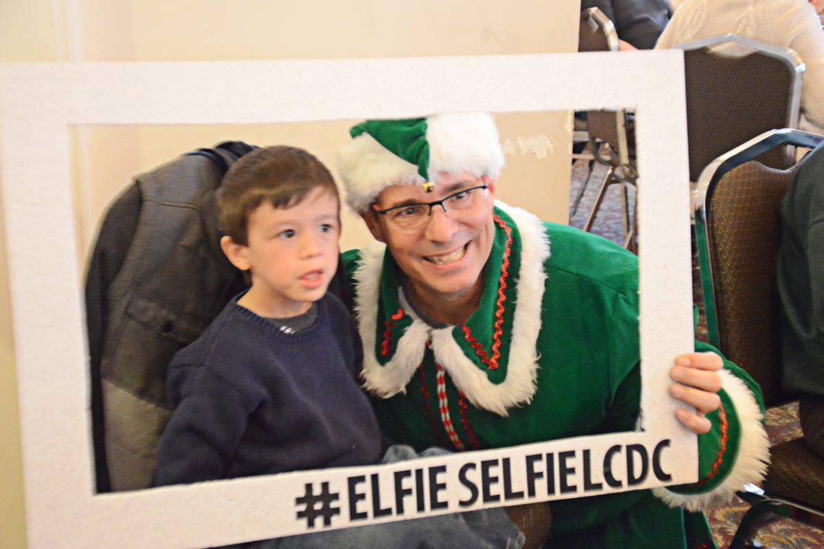 Elfie Selfies were popular. (Matthew Claxton/Langley Advance)