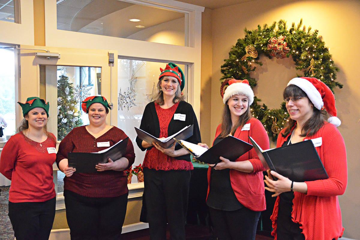 A choir welcomed breakfast attendees. (Matthew Claxton/Langley Advance)