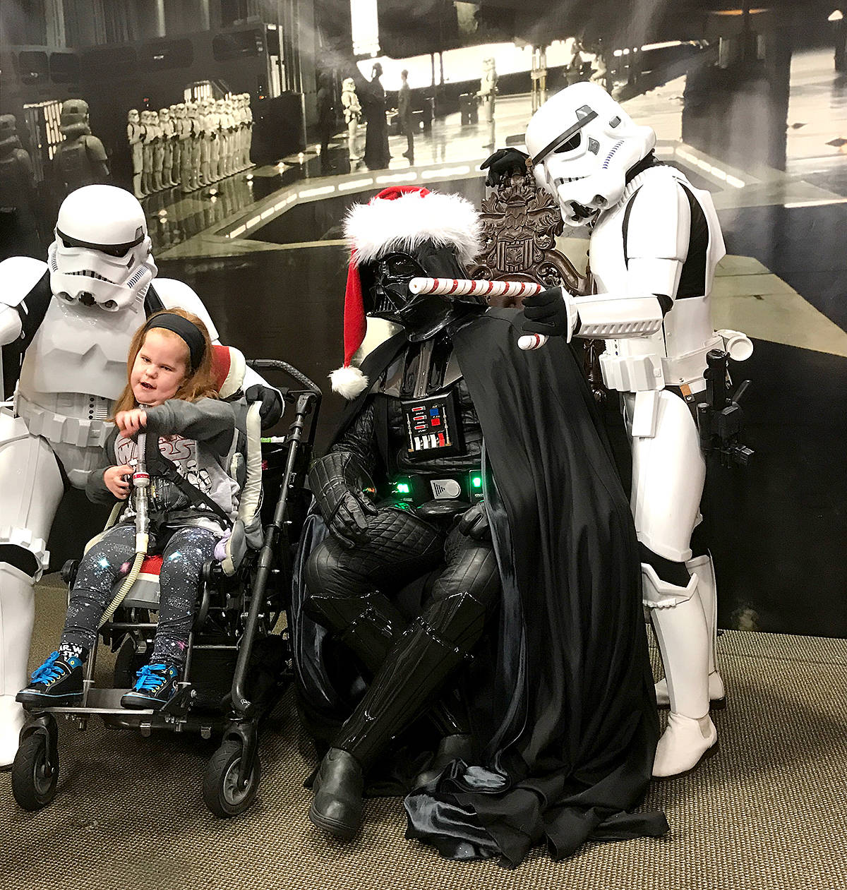 Members of the Star Wars fan-based cosplay group, 501st Legion – Vader's Fist, were part of a fundraising event at Toy Traders this weekend. (Special to the Langley Advance)