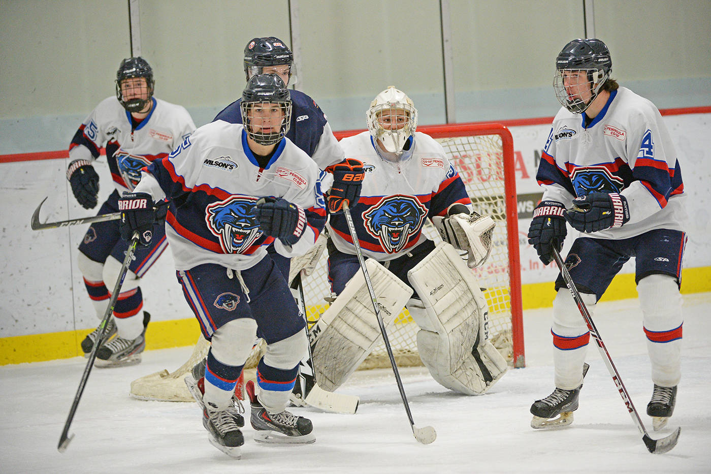The Peninsula Panthers in North Saanich made full face protection mandatory this season. BC Hockey is now extending that level of face coverage to all of the Junior B hockey teams in the province. (Gordon Lee Photography)