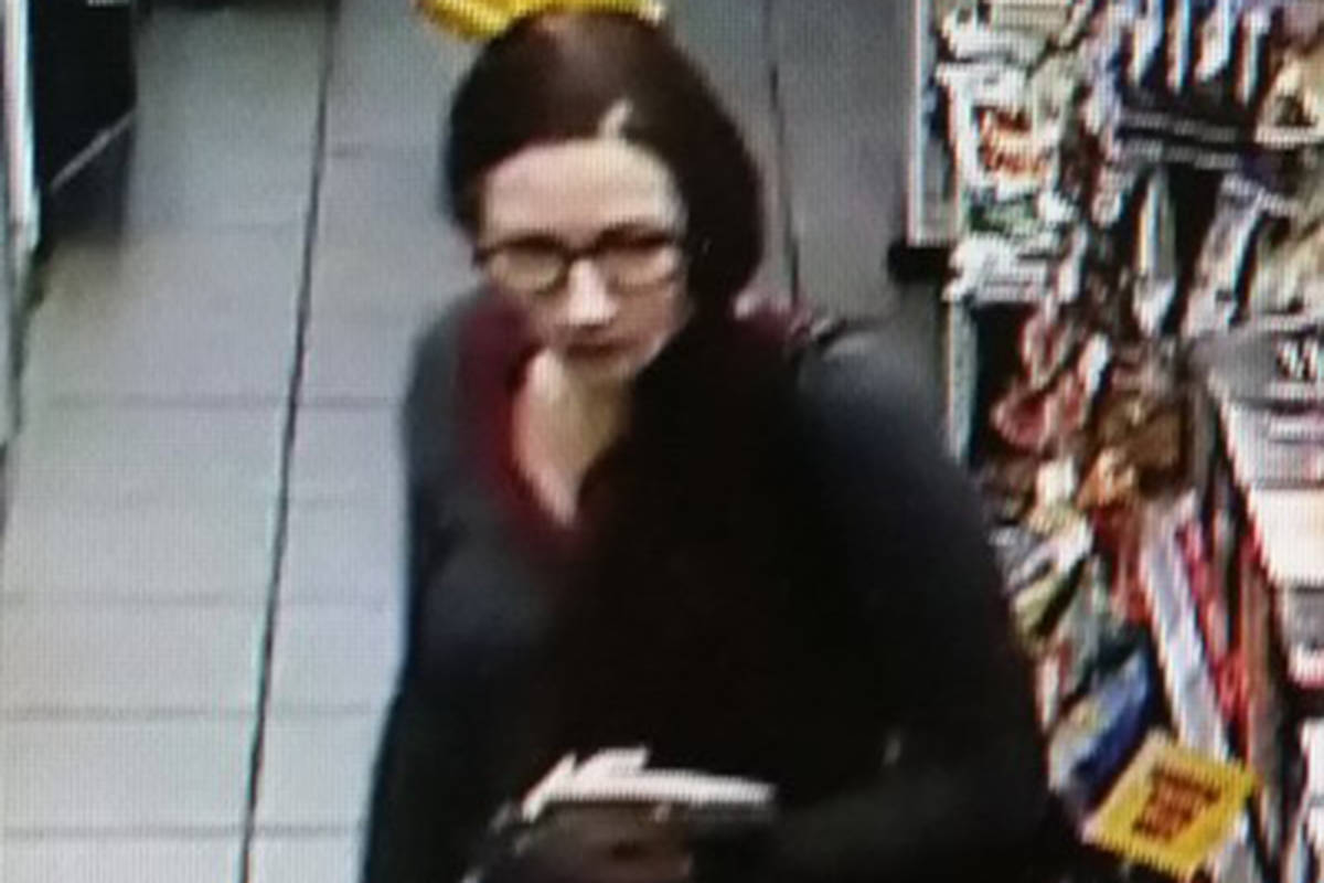 This woman is allegedly linked to shoplifting at an Esso station.