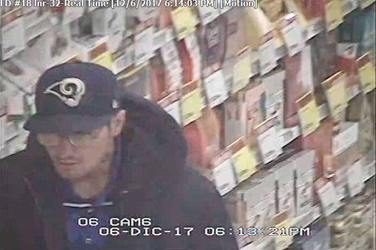 This man is a suspect in the theft of a GoPro camera.