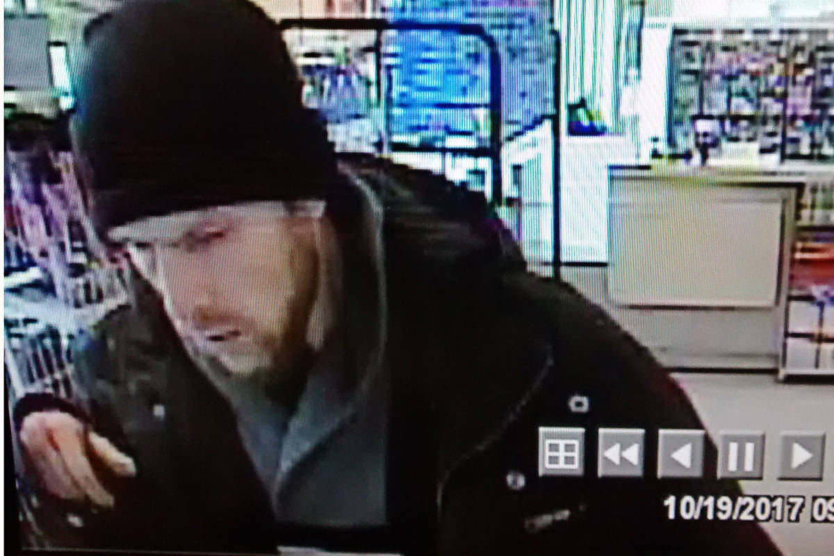 This man allegedly stole from a Shoppers Drug Mart.