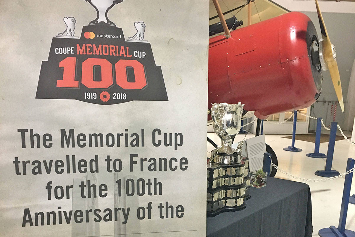 The Vancouver Giants celebrated their 10 anniversary of winning the Memorial Cup and the 100th year of the trophy at a special gathering Dec. 7. (Lisa Farquharson/Langley Advance)