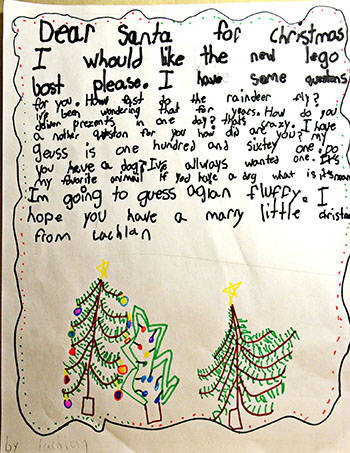 Dear Santa: the Langley Advance presents local children's letters to the jolly old elf