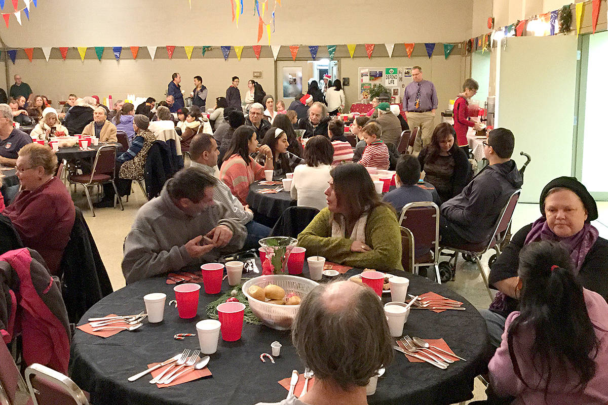 This will be the 25th annual Christmas Day community dinner at St. Joseph's in downtown Langley City. Hundreds come together to share a meal and companionship. (Special to the Langley Advance)