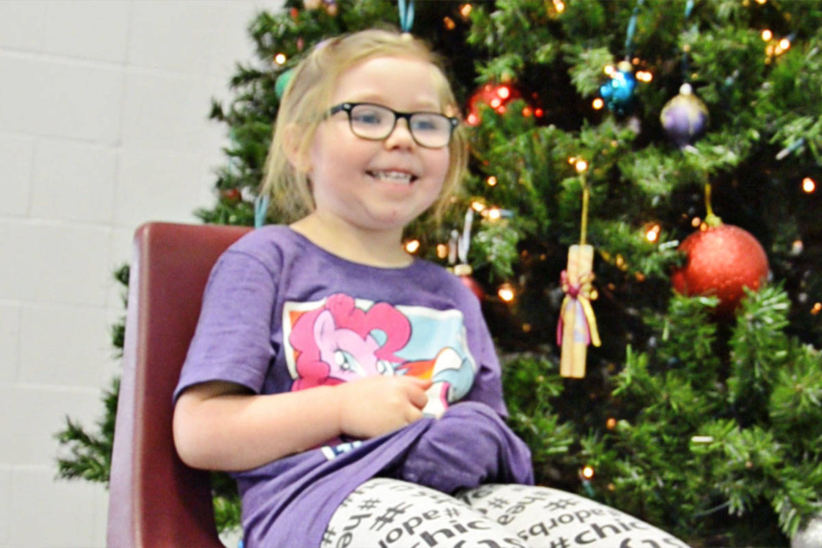 Kylie Gardner is one of seven preschoolers who talked Christmas with the Langley Advance. (Heather Colpitts/Langley Advance)