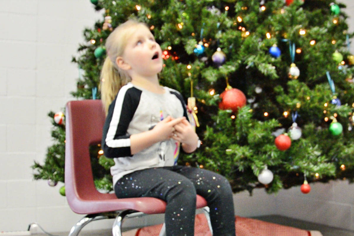 It's Dec. 22 and today's video is of Charlotte Zier-Vogel. (Heather Colpitts/Langley Advance)