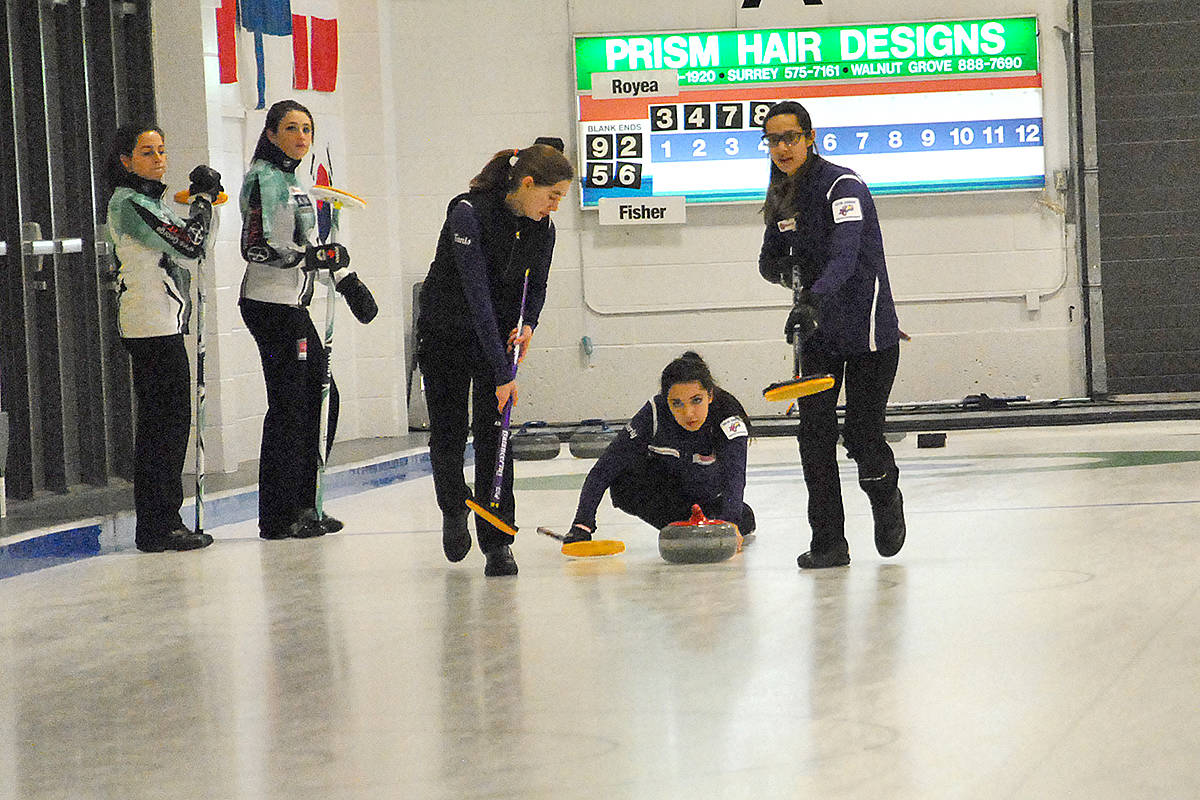 Team Royea won against Team Fisher Wednesday night by the score of 4-0. (Roxanne Hooper/Langley Advance)