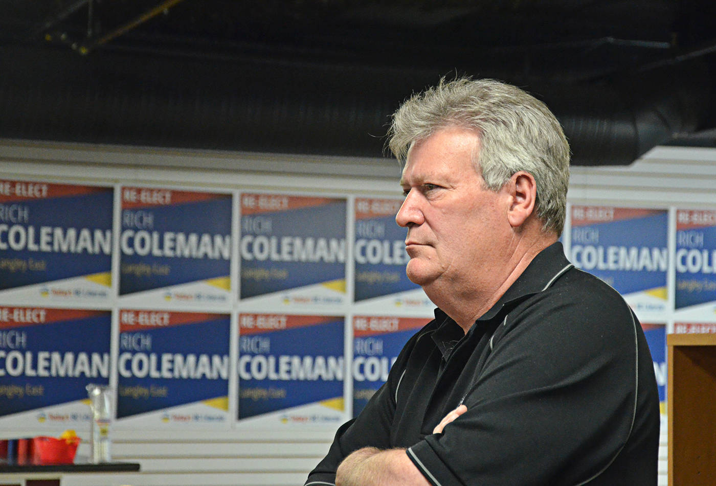 Rich Coleman, Langley East MLA, watched the results come in on May 9 during the provincial vote. (Langley Advance files)