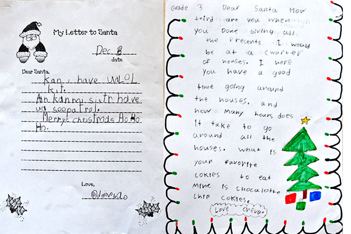 Dear Santa: Langley kids letters to the jolly old elf