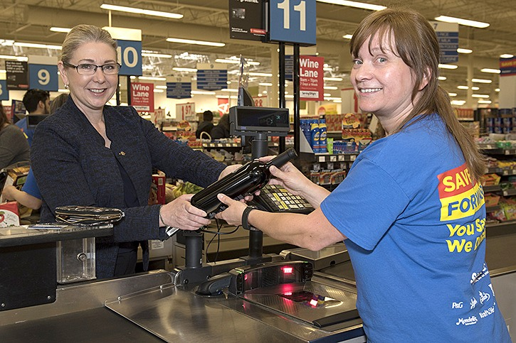Superstore goes live with wine sales in Langley starting Saturday. MLA Mary Polak was on hand Friday