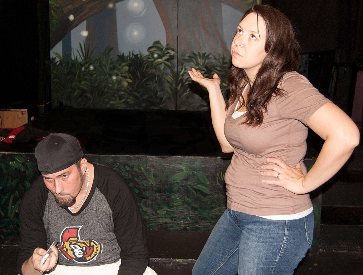 In Domestic Misconduct, playwright and actor Darcy J. Knopp plays Dean, while his wife Mandy plays Lyssa.