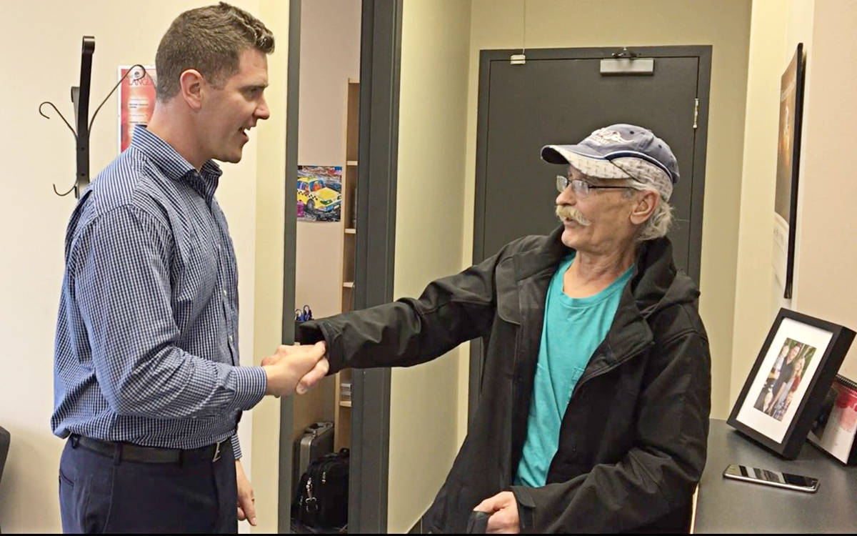 Donated hearing aid replaces one lost in fire