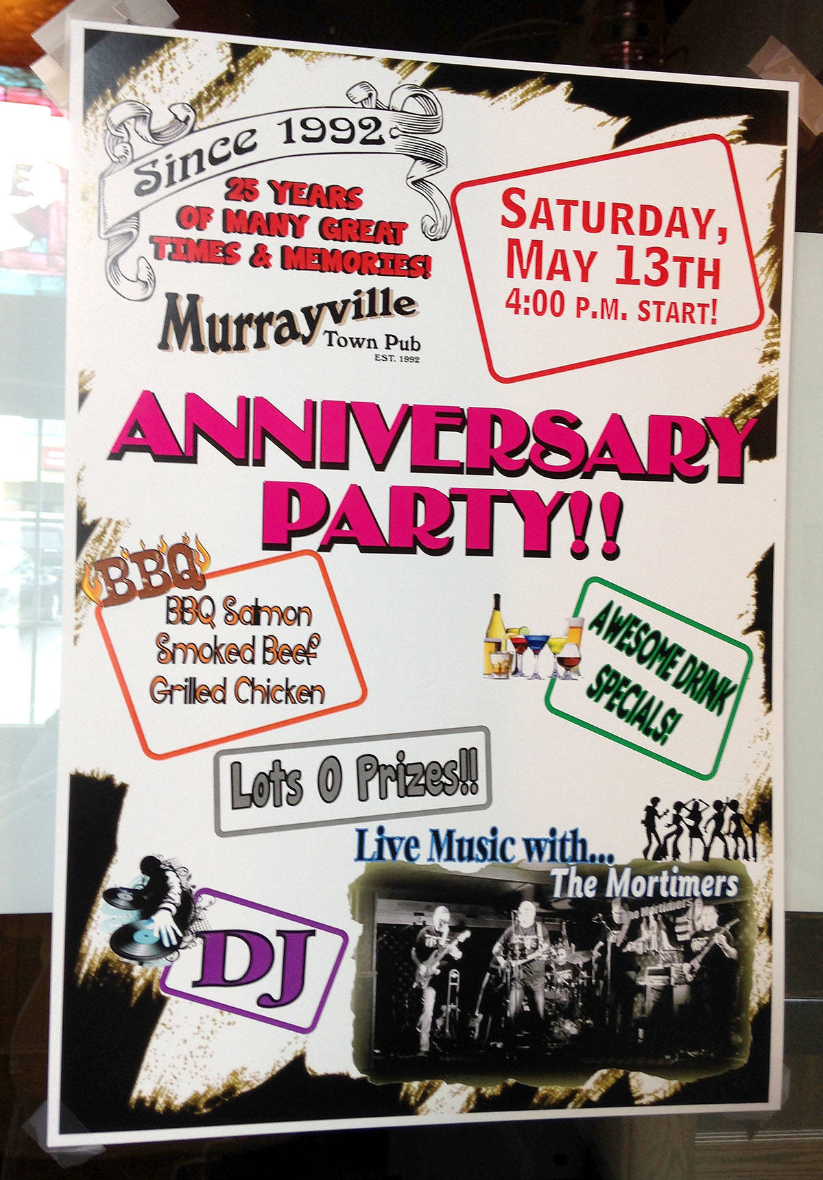 Murrayville Town Pub turned 25 this month, and owners are hosting an anniversary party this Saturday.
