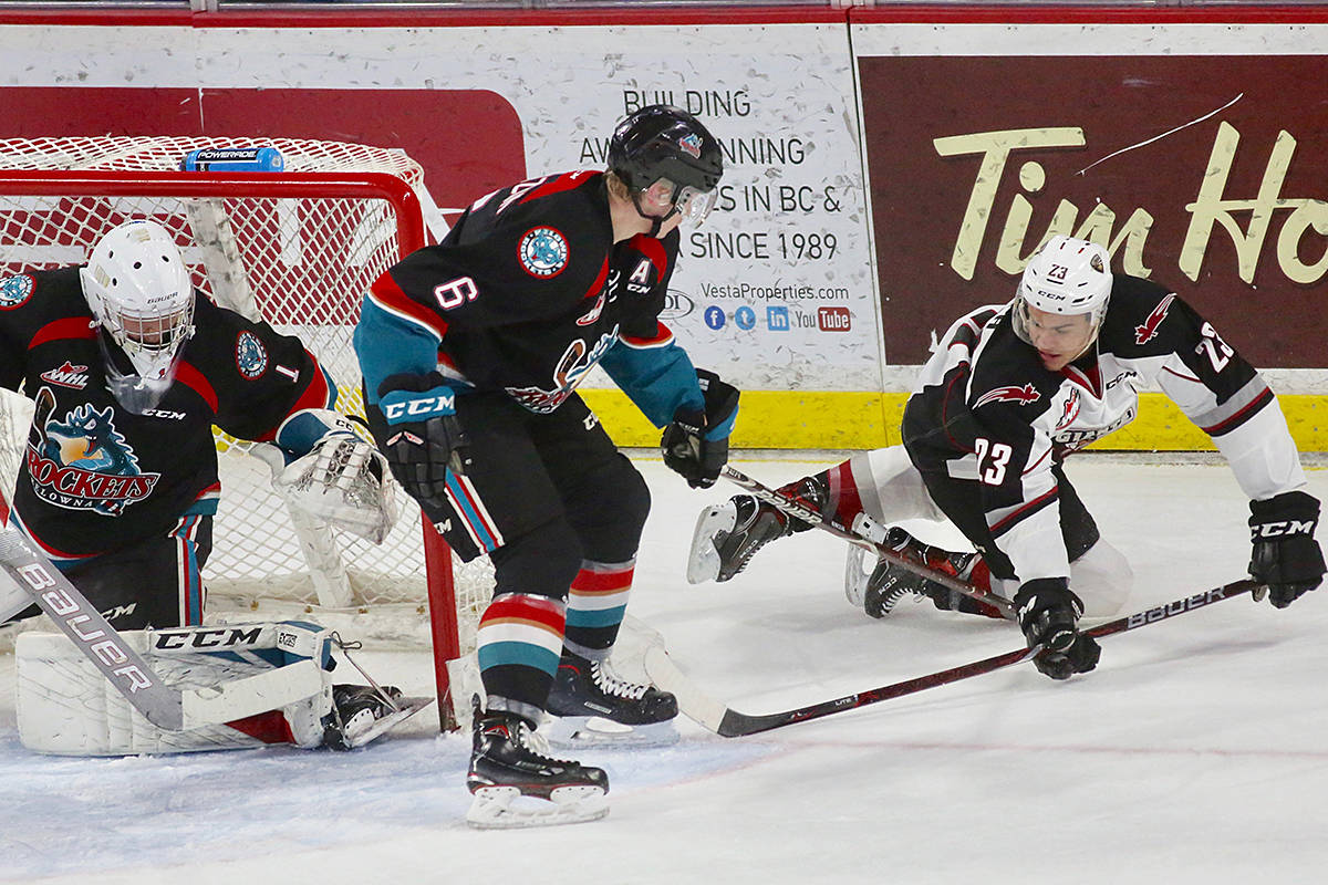 Giants won one of their last regular season games at home Friday night, at Langley Events Centre, when they defeated the Kelowna Rockets by the score of 7-4. (Rik Fedyck/Vancouver Giants)