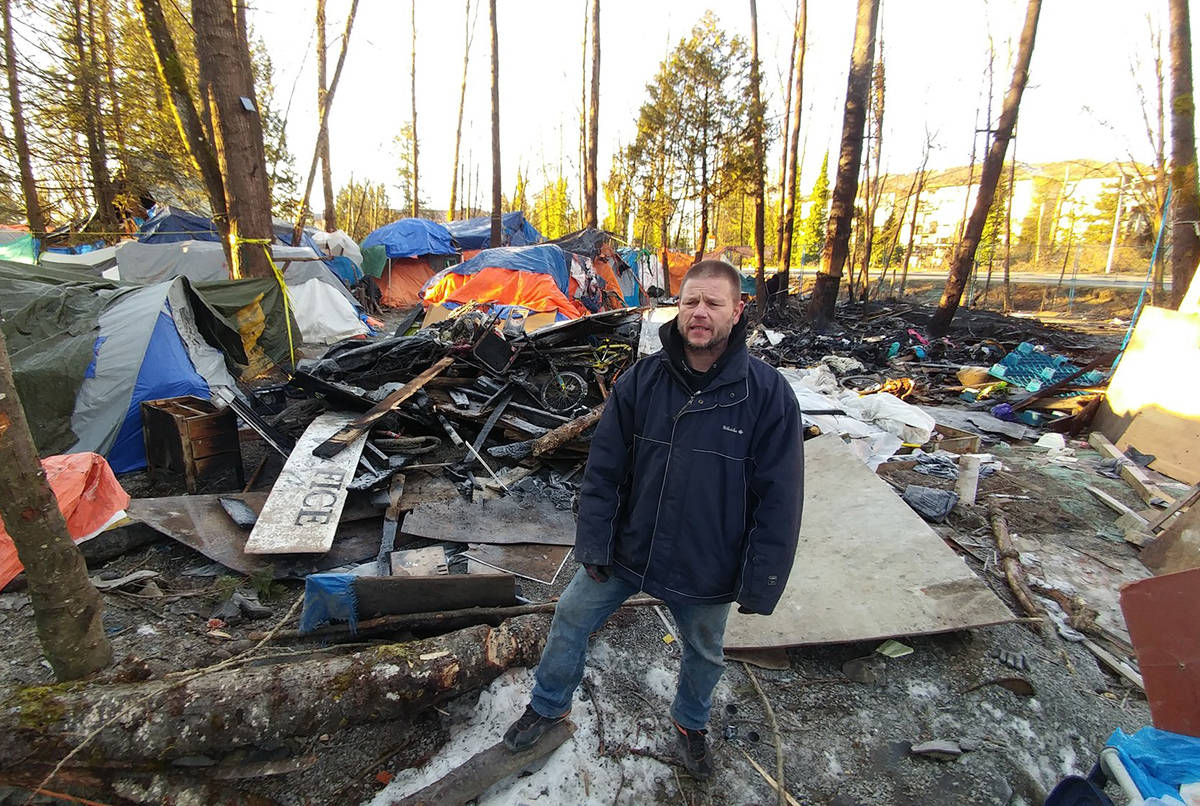 Leaders at Anita Place tent city say they will comply with an evacuation order (Neil Corbett/Maple Ridge News)