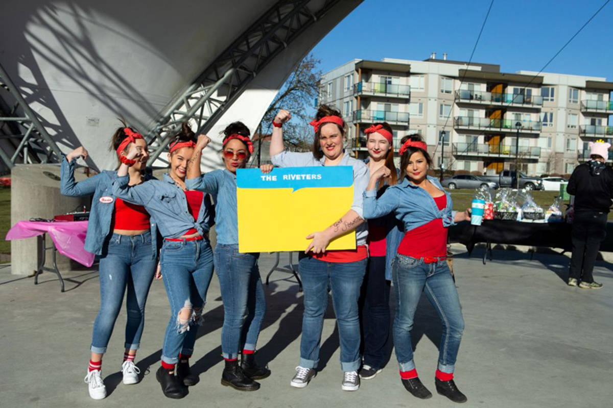 Team The Riveters won the race on Saturday, March 2. Courtesy Anita Alberto Photography