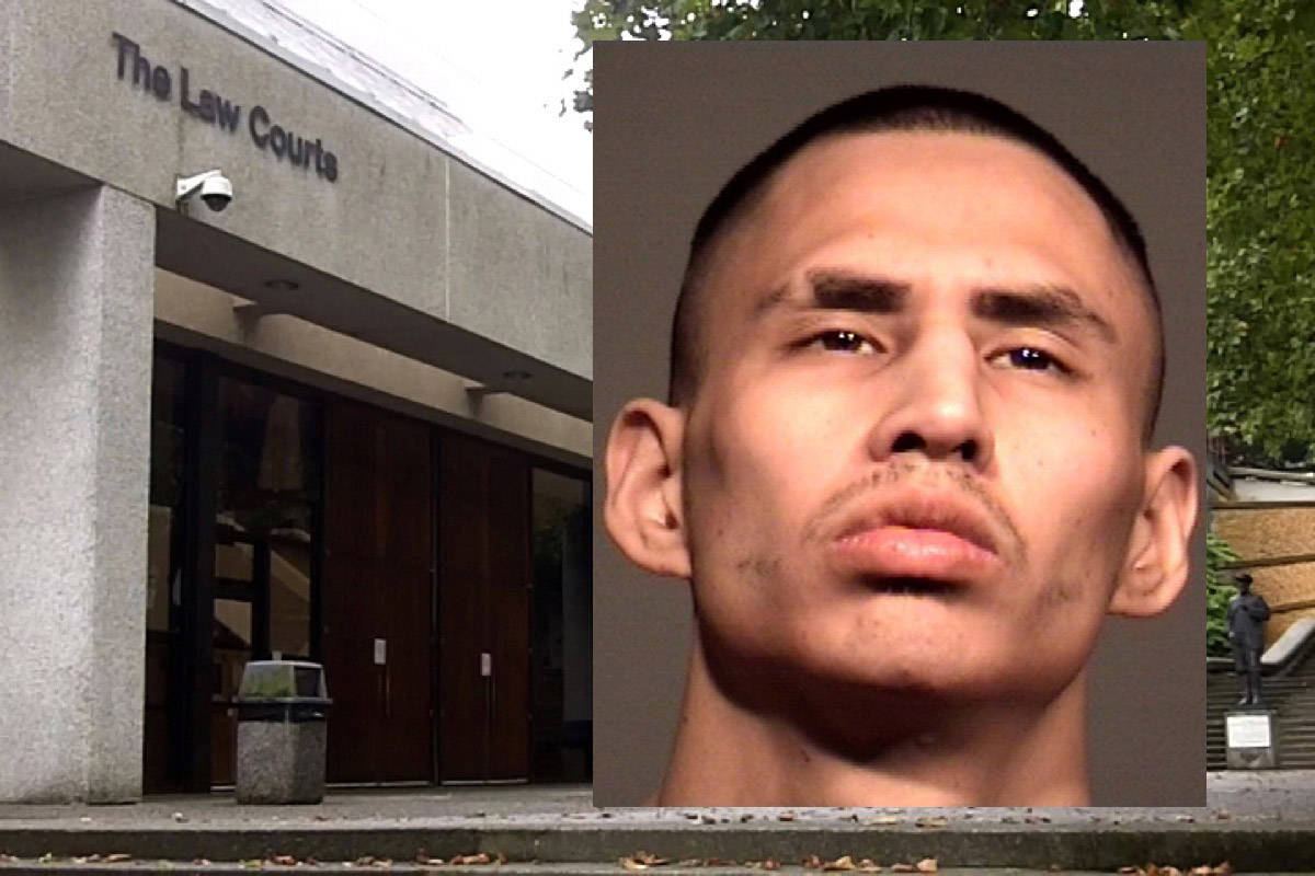 Kirkland Russell was sentenced to eight years in jail on March 6, 2019 in BC Supreme Court in New Westminster for killing Douglas Presseau on July 7, 2017 in an alcohol-fuelled stabbing in downtown Chilliwack. (Handout)