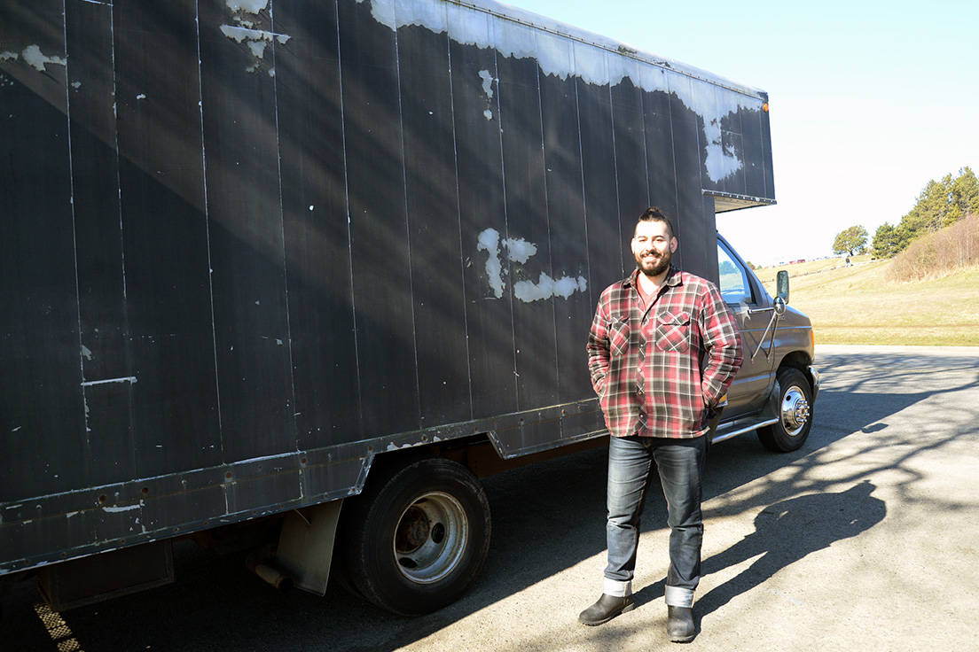 """When Andrew Strauss built a home on wheels, he intended to live in it full-time. While the Victoria man ended up keeping his apartment, he says the unconventional """"van life"""" offers many people personal and financial freedom. (Nina Grossman/News Staff)"""