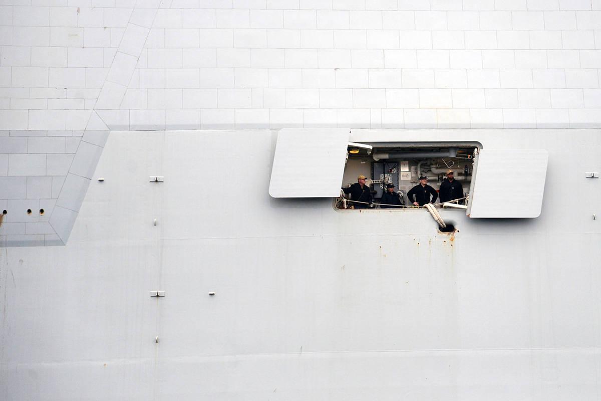 The USS Zumwalt is the U.S. Navy's largest destroyer. (Nina Grossman/News Staff)