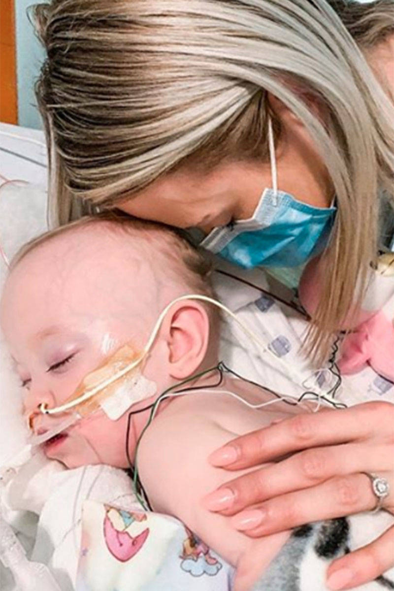 Young London fights for her life at BC Children's Hospital, with the support of her mother Jade Schievink. Submitted photo