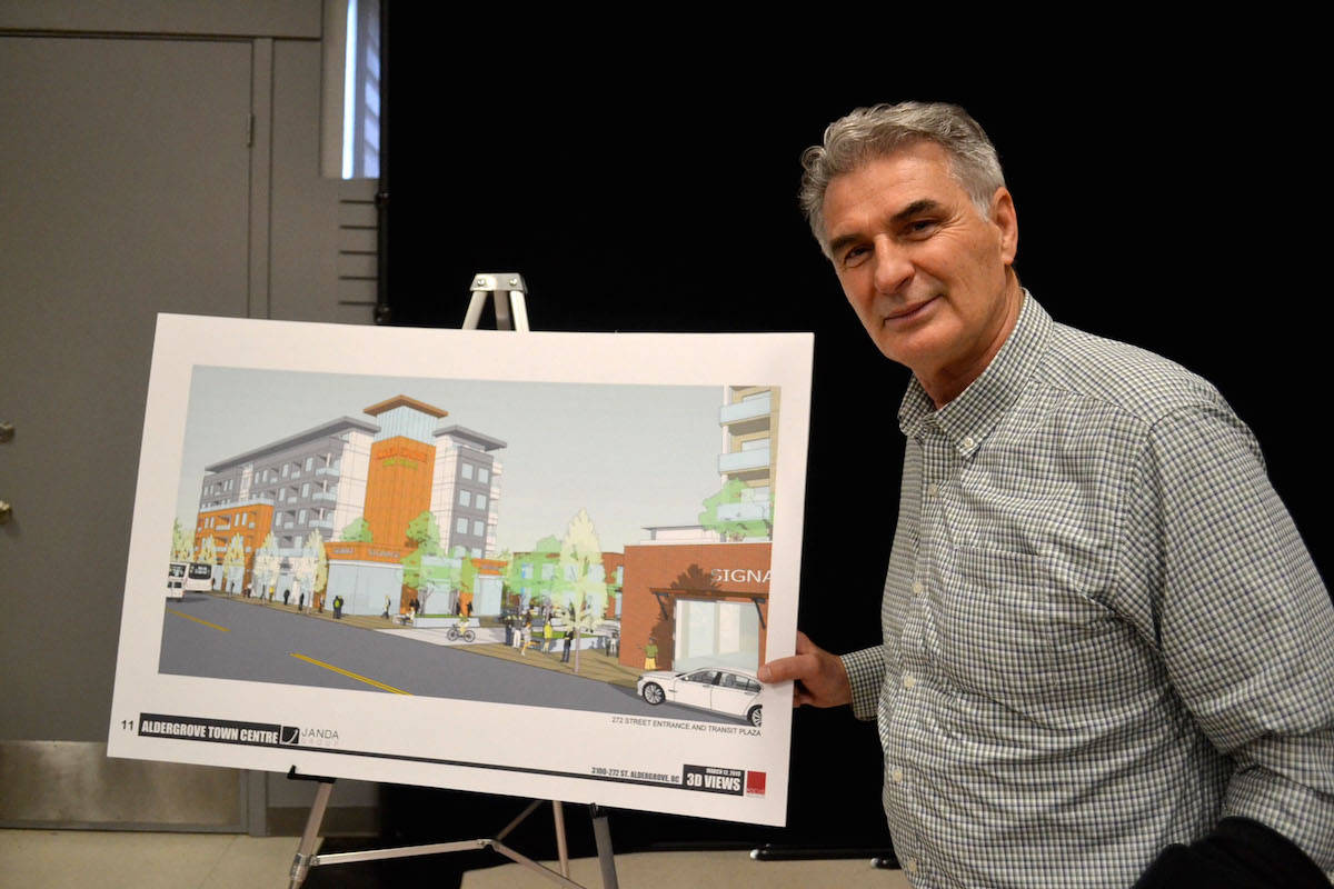Steve Ferguson, a Langley Township councillor and former resident of Aldergrove, was over the moon about the proposal for revitalization. (Sarah Grochowski photo)