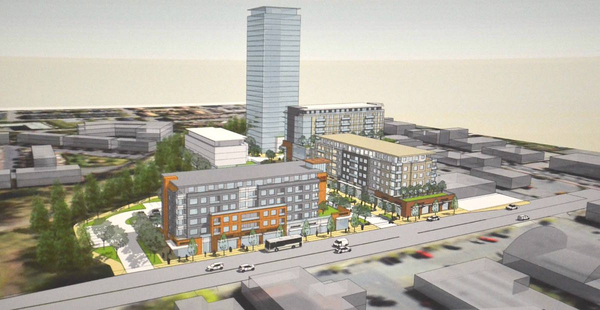 For Phase Three: instead of building two smaller towers that are listed in the core plan the Janda Group has proposed one large 28-storey tower. (Sarah Grochowski photo)