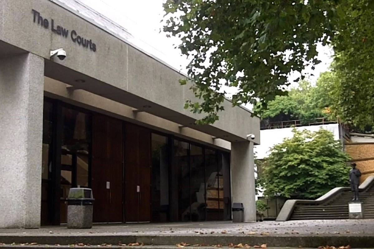 B.C. Supreme Courthouse in New Westminster where RCMP Const. Jeff Van Woerden was acquitted on Feb. 20 of assaulting James Vidal, who was killed in a targeted homicide in Chilliwack 18 days later on March 10. (Tom Zytaruk, Black Press file)