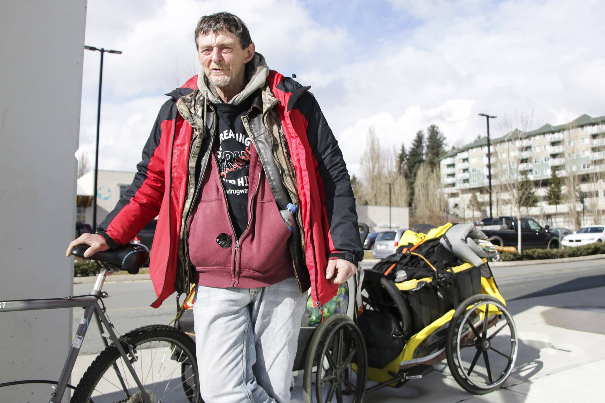 Harvey Clause, an Abbotsford homeless man and advocate, reflects on a few fatal overdoses over the past few weeks. Clause says grieving while homeless holds distinct challenges with little for privacy and little time to process grief. Dustin Godfrey/Abbotsford News