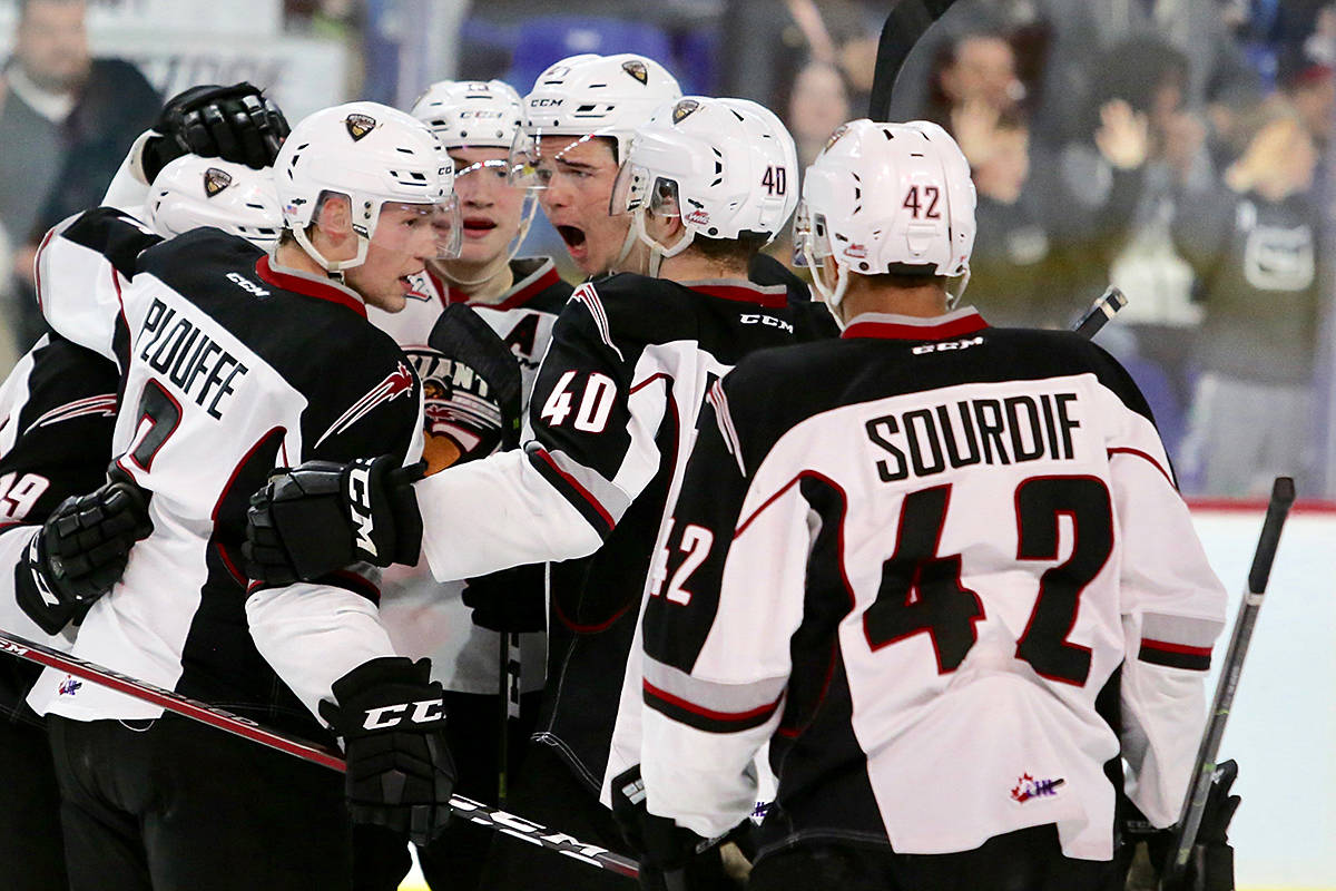 On home ice at the Langley Events Centre, the Vancouver Giants handily won the first game of the playoff series by the score of 7-1. (Rik Fedyck/Vancouver Giants)