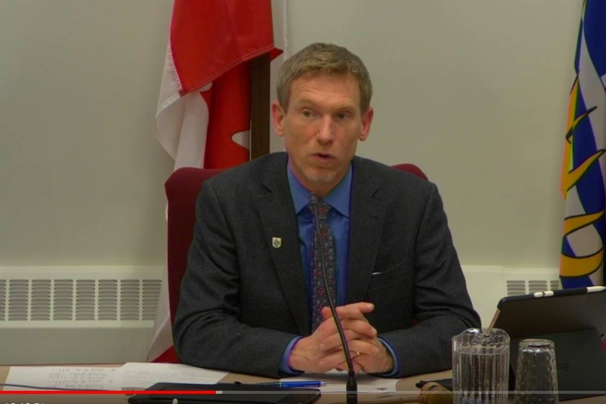 Councillor Rik Logtenberg. Photo: City of Nelson video screenshot