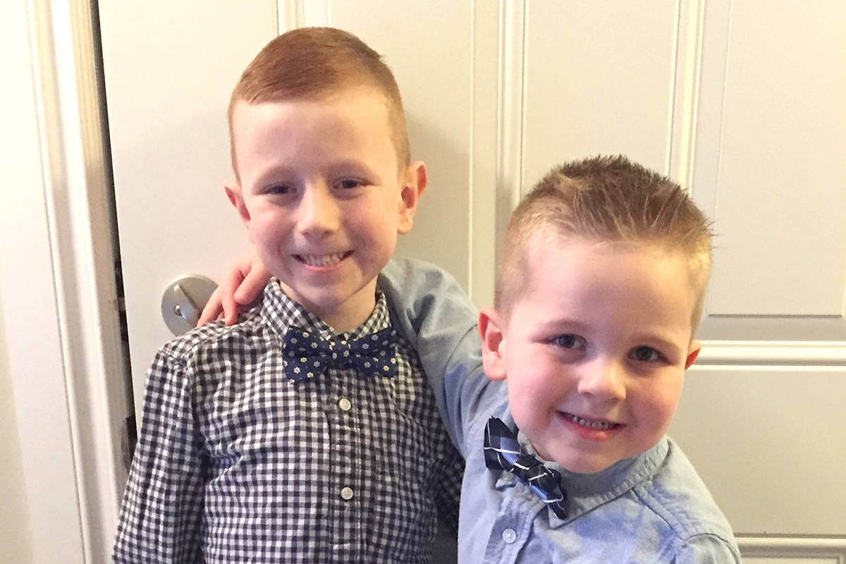 Jack (left) and his brother Sam look forward to a family trip to Disney World. Submitted photo